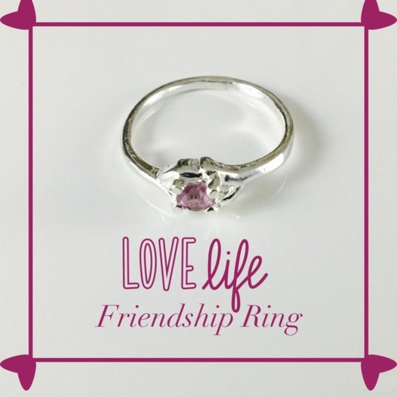 PassionKids Other - Purple Silver plated CZ Crystal  Ring